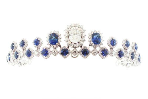 www.christineguibara.com Diamond, Sapphire and Platinum Tiara