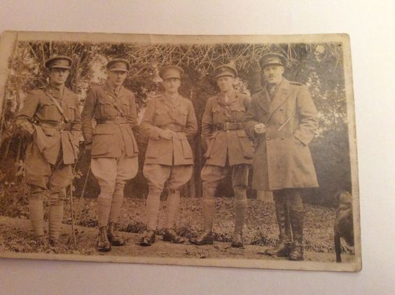 Centre is Thomas Hutton Lloyd 1917/18, he is wearing his Military Cross.  Josie and Becky this is your Grandads Dad.