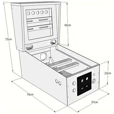 pinball machine dimensions