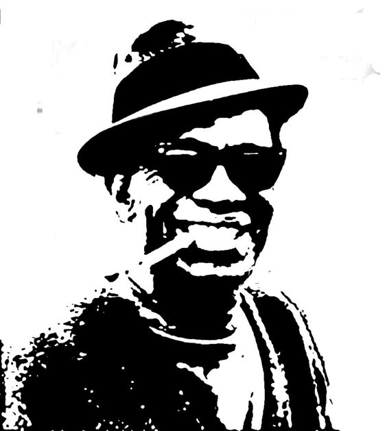 Lightnin Hopkins Stencil
