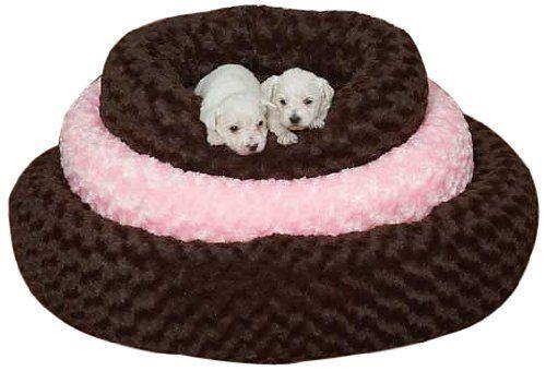 Slumber Pet Polyester Swirl Plush Donut Dog Bed, Large, 32-Inch, Chocolate - http://petproduct.reviewsbrand.com/slumber-pet-polyester-swirl-plush-donut-dog-bed-large-32-inch-chocolate.html