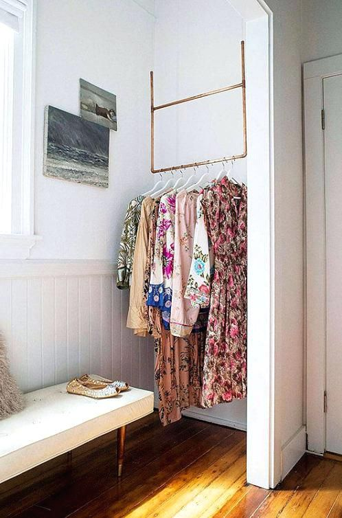 Clothes Storage Small Room Photo 5 Of 6 Creative Clothes Storage