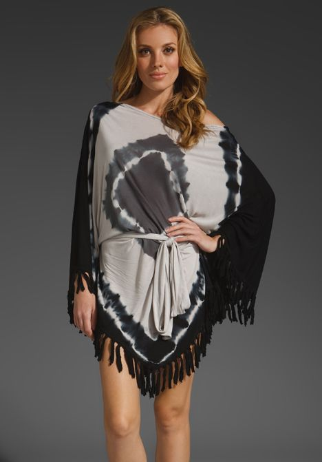 Young Fabulous Broke Fringe Navajo Wash Cory Dress In Black