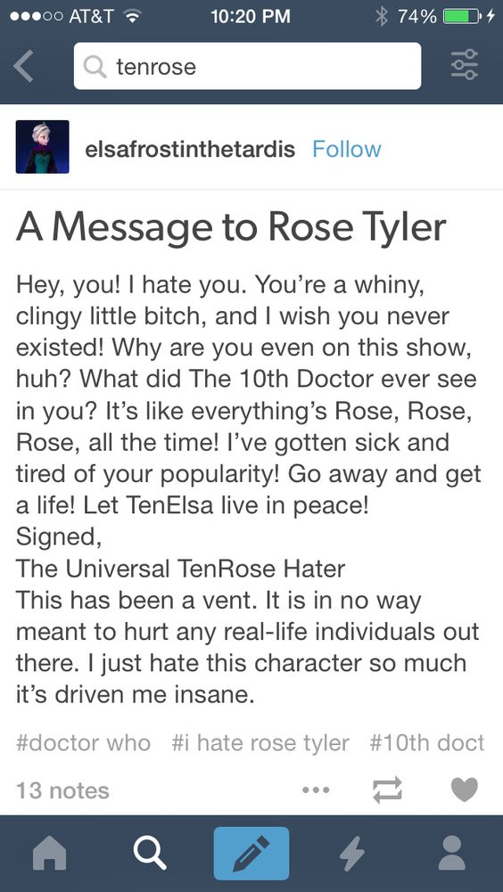 Oh, the glorious Tenrose tag on Tumblr! I have lost faith in every single Tumblr tag.