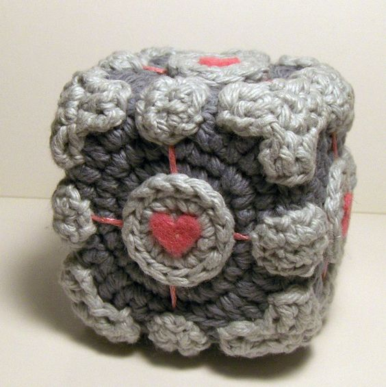 Free Nerdy Amigurumi Patterns : Free cute Portal Companion cube amigurumi pattern ...