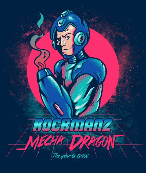 Mecha Dragon Inspired and parody from the amazing 80's cover from Far Cry 3 Blood Dragon. Now available on my RedBubble and Society6