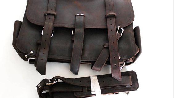 """16,5"""" vintage crazy horse leather bags / bolso de hombre de piel  http://www.ruavintage.com/es/tienda/maletines/crazy-horse-16-5-marron"""