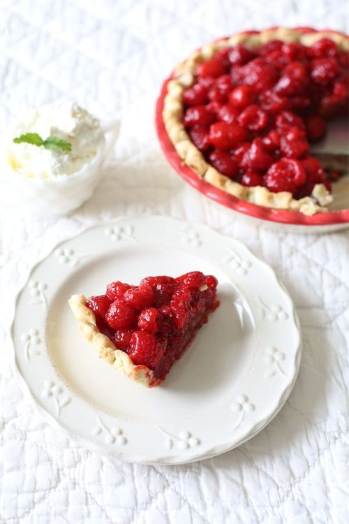 Raspberry Pie! So quick, and so good (not to mention a bit healthier than most raspberry pie recipes)