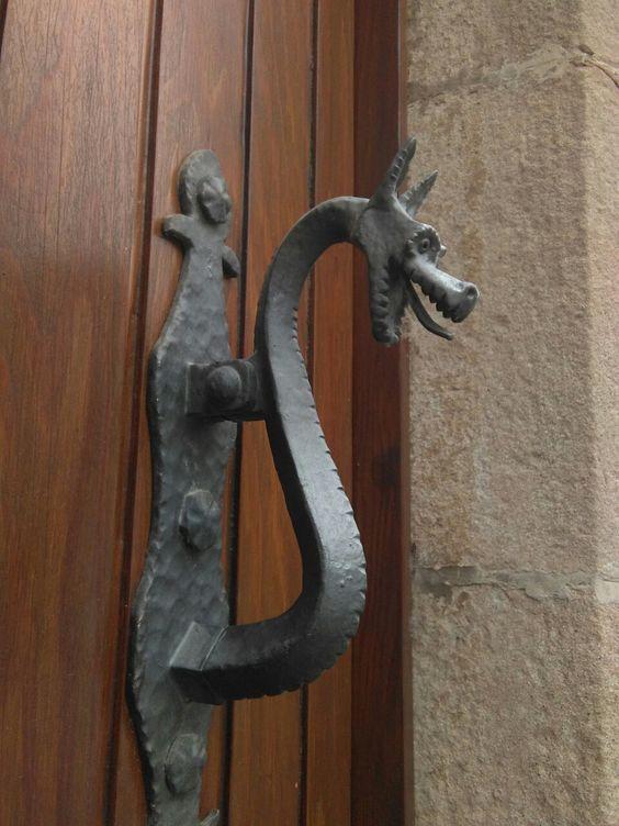 Maneta de porta de ferro