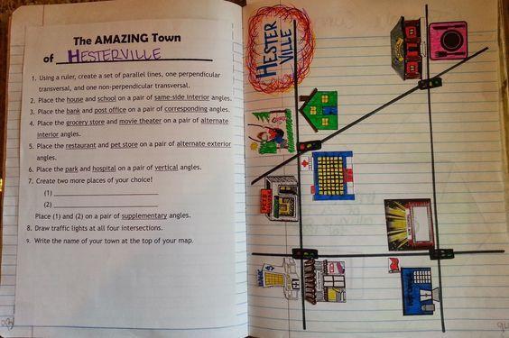 عين بوابة التعليم الوطنية استعراض خطة الدرس 8th Grade Math Teaching Geometry Math Interactive Notebook