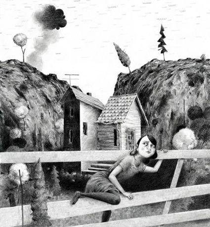 'Getaway', Graphite on paper, Jonas Lofgren