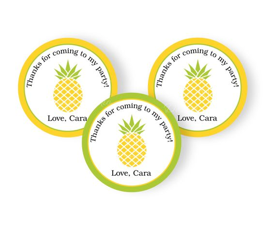SALE Pineapple Cupcake Toppers   Pineapple Luau Party   Pineapple Party…
