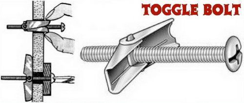 Use Toggle Bolts When Plastic Anchors Fall Out Of Drywall Bathroom Towel Bar Towel Bar Repair Drywall Hole