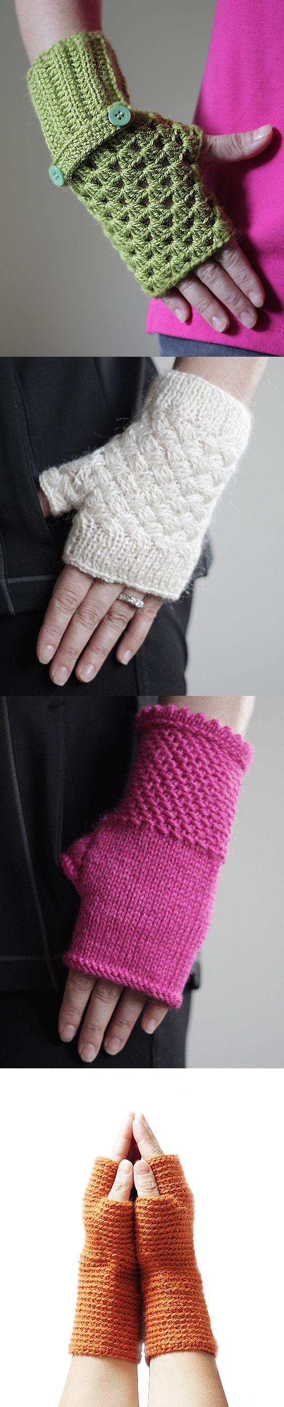 Crochet Fingerless Gloves - Winter Mittens - Wrist Warmers
