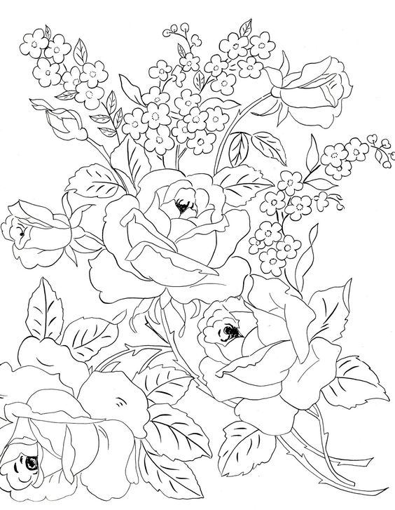 Embroidery Patterns Roses And Tulip On Pinterest