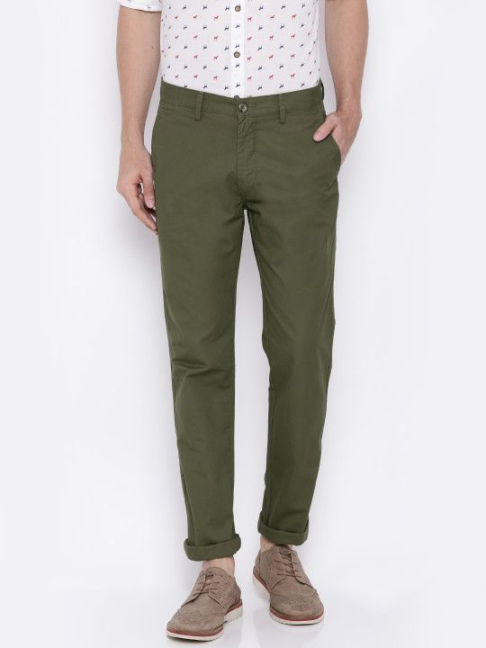 U S Polo Assn Men Olive Green Slim Fit Chinos 809 Olive Green Pants Outfit Olive Green Pants Green Pants Outfit