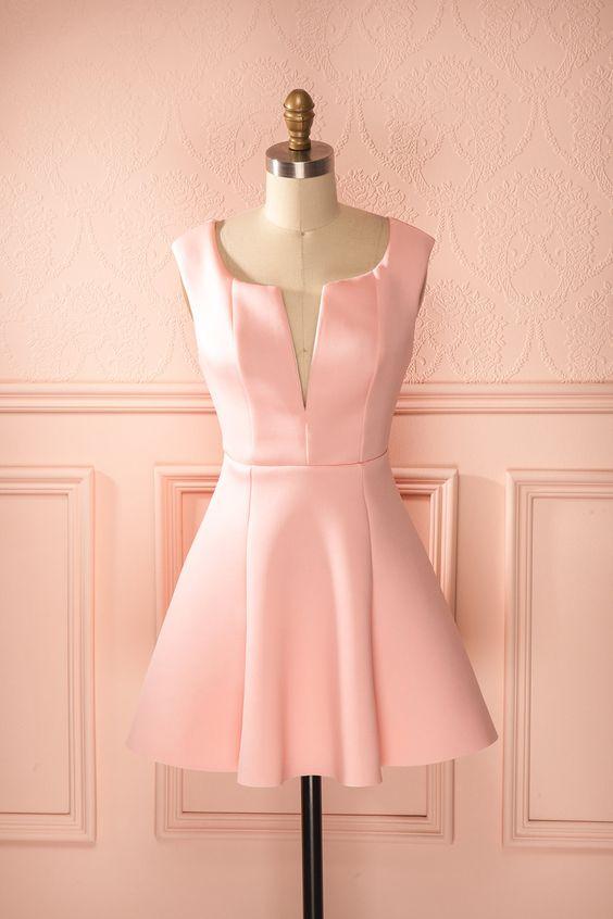 A beautiful little wedding attendance number? I think so. Ahava - Candy pink scuba knit dress