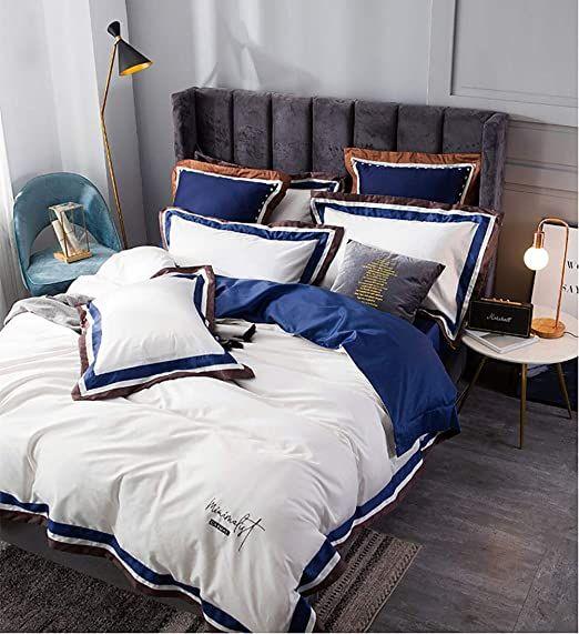 Bedding Set King Size Cream Duvet Covers Double Bed White Bedding Set Duvet Covers 100 Long Staple Cotton King Bedding Sets Duvet Bedding Sets White Bedding