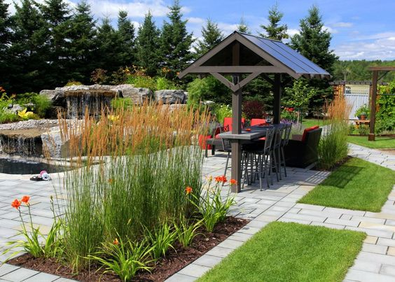Horticulture outdoor living rooms and hot tubs on pinterest Paysagement exterieur photo