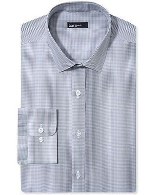 Bar III Dress Shirt, Slim-Fit Smoke Optic Check Long-Sleeved Shirt