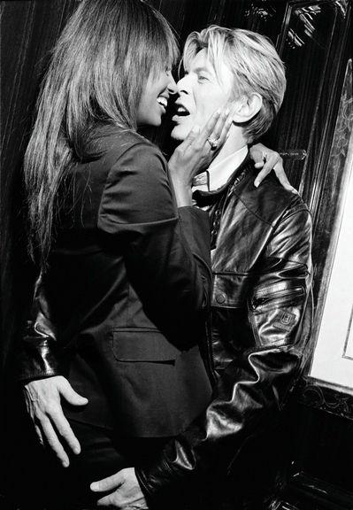 David Bowie and Iman's photoshoot for Tommy Hilfiger - Amstel Hotel, Amsterdam, October 2003 © Ellen von Unwerth