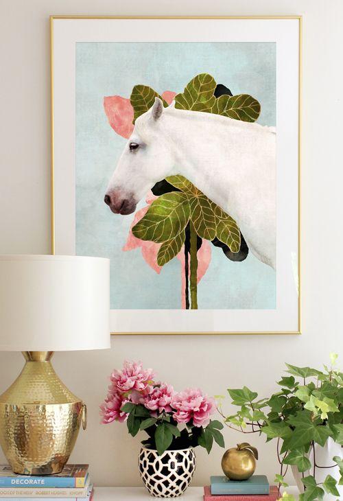 White Horse | Cozamia ~ Beautifully Chic & Vibrant Art