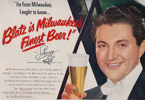 Difficult seeing Liberace as a beer drinker !