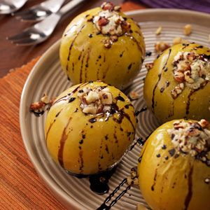 Gorgonzola Baked Apples with Balsamic Syrup Recipe from Taste of Home