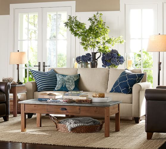 Pretty sure the boys can't hurt this table Channing Coffee Table | Pottery Barn