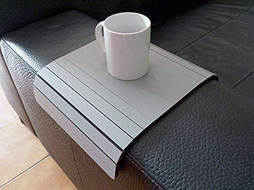 Wooden Slinky Sofa Table For Armrest In Many Colors As Grey Small Flexible Over The Couch Side Tables Sofa Table Design Beautiful Bedroom Designs Wooden Couch