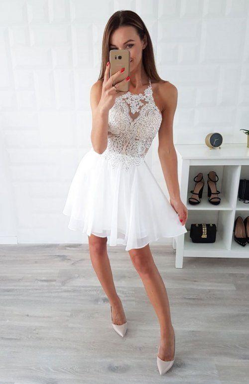 Sukienka Mercedes Ecru Bez Dresses Graduation Dress Fashion