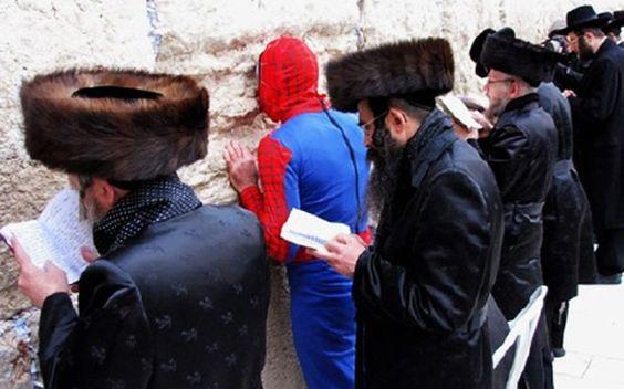 At the Wailing Wall in Jerusalem. . .