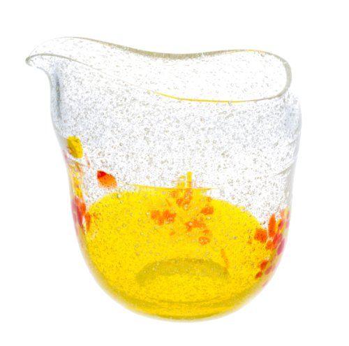 Awa Hanami Katakuchi Yellow (d90 x h85mm) mfr. Ryukyu Glass Craft