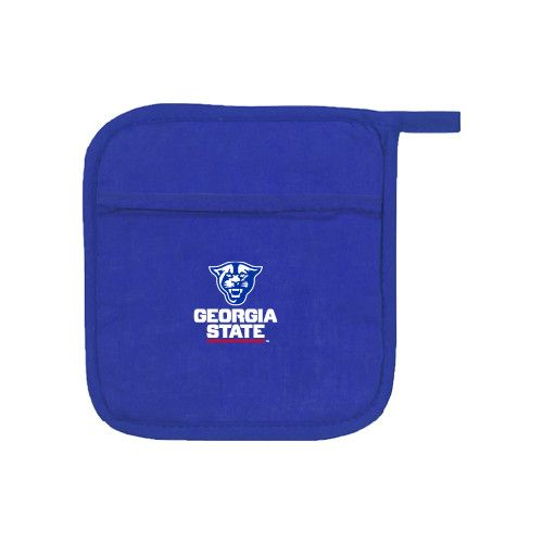 These pot holders are the perfect accessory for your baking and cooking needs. Heat resistance allows you to remove dishes from the oven and hot pots from the stove.,Quilted Canvas,Screen printed logo,Machine washable,Convenient Loop For Hanging,Dimensions: 6 ¾ W x 6 ¾ H