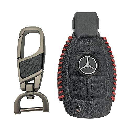 Visongel Genuine Leather Mercedes Benz Key Fob Cover Holder For W203 W210 W211 W124 Amg Smart Ke Key Accessories Genuine Leather