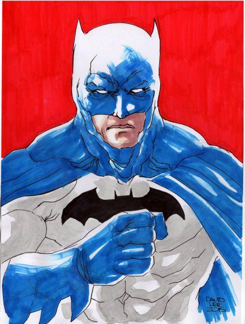 Sketch do Batman do Miller. Na 21a. Fest Comix, São Paulo Expo, 17-19 de Julho de 2015.