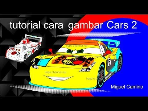 Cara Gambar Mobil Balap Cars 2 Miguel Camino Youtube Mobil Balap Gambar Kartun