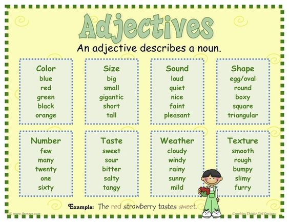 Adjectives Mrs Warner S 4th Grade Classroom List Of Adjectives Adjectives For Kids Adjectives Adjectives worksheets for grade icse