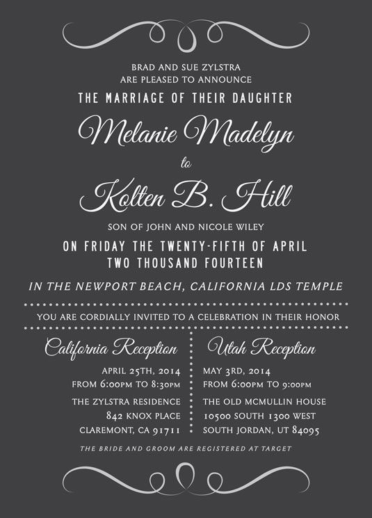 Wedding Invitation Ideas Utah Announcements
