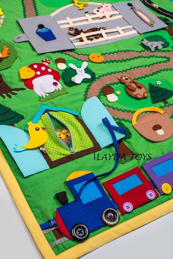 """Купить Развивающий коврик """"Волшебная страна 2"""" - развивающий коврик, коврик ручной работы"""