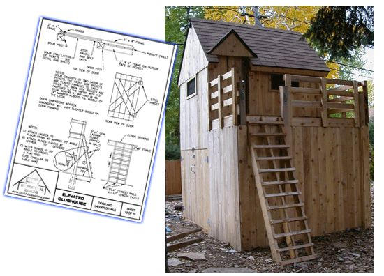 Plan For Club House With Tool Storage Shed Underneath | Kids | Pinterest |  Tool Storage, Storage And Playhouses