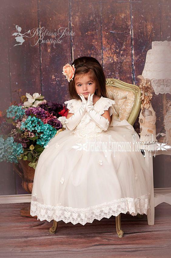 Exquisite Angel Flower Girl Dress on Etsy, $168.00