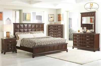 Sherman Rich Dark Chocolate Platform Queen Bed