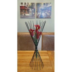 Flower Cage TM Medium Red Calla Lily/Vase/Centrepiece/Accessory/Gift/Wedding: Amazon.co.uk: Kitchen & Home