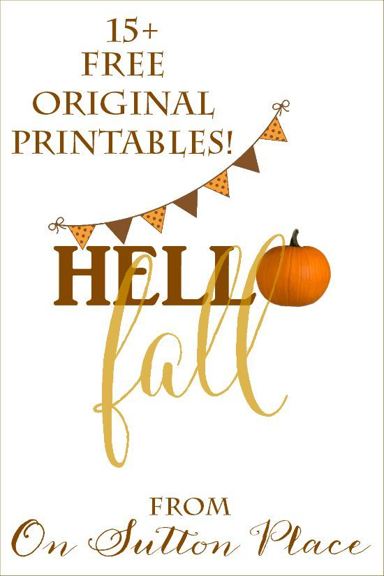 Growing collection of Free Fall Printables | All original. Use for DIY Wall Art, Crafts, Cards and more!