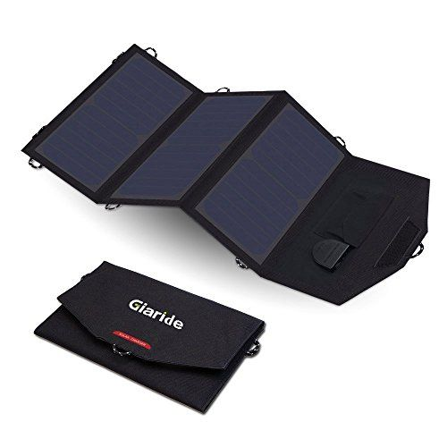 Giaride 18v 21w Portable Foldable Solar Charger 5v Usb 18v Dc Output Sunpower Solar Panel For Tablet Ip Solar Charger Solar Panel Charger Solar Battery Charger