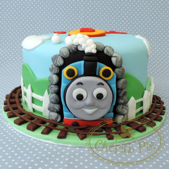 Thomas the Tank Engine Cake - Cherub Pie  https://www.facebook.com/cherubpiecakes/