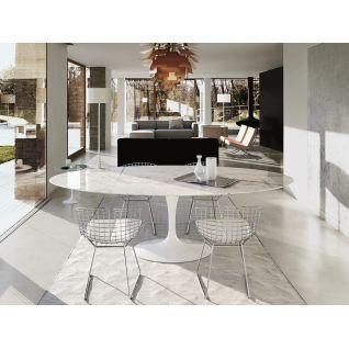 Tulip Ovaal Marmer Tafel Eero Saarinen Knoll Reproductie En 2020 Table Ovale Table Salle A Manger Table Marbre