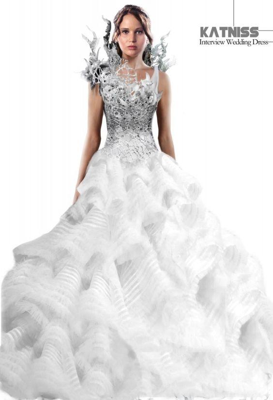 Catching Fire&39 Costume Illustrations - Katniss Interview Wedding ...