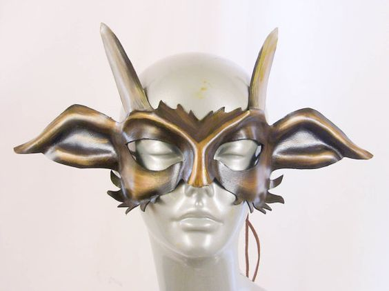 Goat / Pan Leather Mask by kmickel on Etsy, $75.00